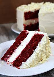 slice of birthday cake red velvet. Brilliant Red Slice Of Red Velvet Cheesecake Cake And Slice Of Birthday E