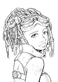 Recolor Coloring Pages Hair Long Girl Download By Tablet Desktop