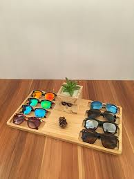 Decorative Display Boxes Wooden Glasses Display Box Storage Case Retro Trend Fashion High 62