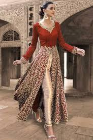 Designer Salwar Kameez 2017 Red Georgette Designer Salwar Kameez Indian Dresses