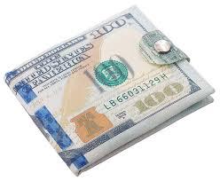 5 Dollar Design Minimalist Slim Wallet For Men Us Dollar Bill Wallet Credit Card Photo Holder Bifold Zipper Design