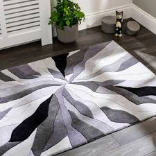 infinite splinter grey abstract rug by flair rugs
