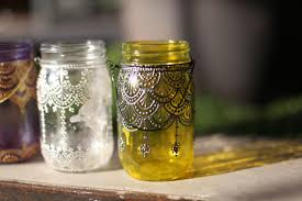Decorating Canning Jars 100 Spaces To Decorate With Our HandPainted Mason Jar Lanterns 2