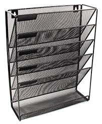 wall mount office organizer. easypag mesh wall mounted file holder organizer literature rack 5 compartments black mount office v