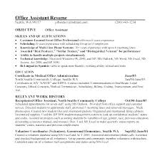 Objective For Office Assistant Adorable Objective For Medical Resume Objectives For A Medical Assistant