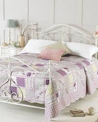 Bed & Bedding: Fill Your Bedroom With Breathtaking Quilted ... & Layla Luxury Quilted Bedspreads in white and purple for bedroom decoration  ideas Adamdwight.com