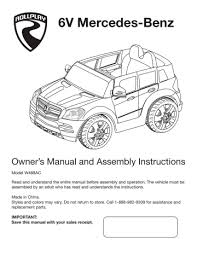 Check spelling or type a new query. 6v Mercedes Benz Owner S Manual And Assembly Instructions Manualzz