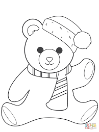Small Picture Christmas Teddy Bear coloring page Free Printable Coloring Pages