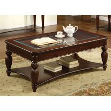 solid oak coffee table with glass top collection furniture of america morgan beveled glass coffee