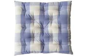 gingham seat pads lavender blue large check chair cushions vichy check seat pads