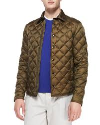 Moncler Frederic Diamond Quilted Jacket, Olive &  Adamdwight.com
