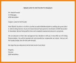 7 Employee Transfer Letter Template This Is Charlietrotter