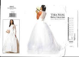 Vera Wang Bridal Size Chart Wedding Gown Pattern Vera Wang Bridal Collection Vogue 1945