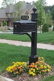 cast aluminum mailbox. Contemporary Aluminum The Estate Aluminum Mailbox And Post System Black Style 688 With Cast I