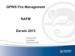 QPWS Fire Management NAFM Darwin 2013