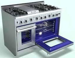 stove with griddle. 6 Burner Stove With Griddle Blue Porcelain Interior Sunfire Range N