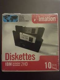 Imation 10 Diskettes 1 44 Mb Ibm Formatted 2 Hd New Factory