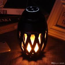 led flame lamp wireless bluetooth speaker player stereo sound waterproof dancing party player atmosphere light