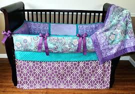 teal crib bedding purple crib skirt image of and teal nursery bedding girl triple ruffle purple teal crib bedding nursery purple