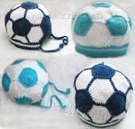 Вязание крючком тапочки футбольный мяч