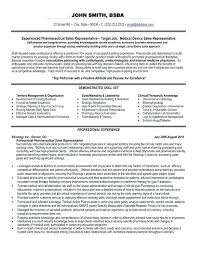 Medical Sales Representative Resume Interesting Pharmaceutical Sales Resume Examples Templates Industry Template