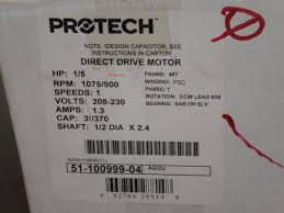 51 100999 04 rheem ruud 1 5th h p condenser fan motor click for larger image