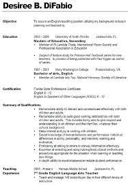 Teacher Resume Objective Amazing Best Solutions Of Good Teacher Resume Objectives Brilliant Resume