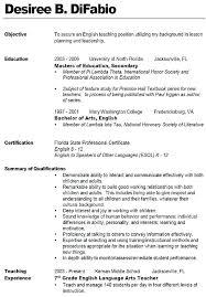 Teacher Resume Objective Amazing Best Solutions Of Good Teacher Resume Objectives Brilliant Resume