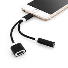 iphone jack adapter. 2 in 1 lightning to 3.5mm headphone jack adapter charge cable compatible with ios 10.2 iphone n