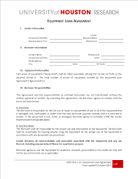 Equipment Loan Agreement Template Employee Uk Resume Simple Free