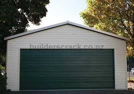 6x6 weatherboard double garage