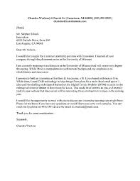 Architecture Internship Cover Letter Examples Architecture Cover