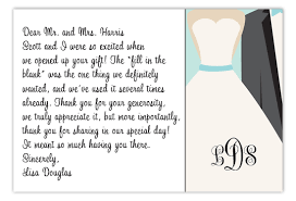 Wedding Thank You Samples - April.onthemarch.co