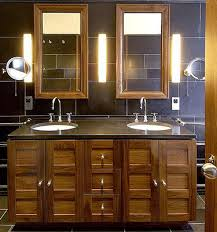 bathroom lighting design. wooden bathroom furniture cabinets double sink vanity effective lighting ideas modern design