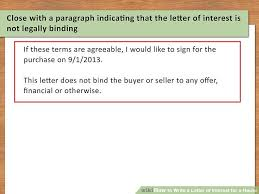 Free Letter Of Intent Simple 48 Ways To Write A Letter Of Interest For A House WikiHow