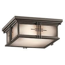 exterior porch ceiling lighting. kichler 49164oz portman square outdoor flush mount ceiling fixture exterior porch lighting p