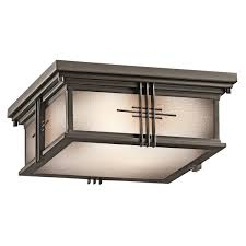 kichler 49164oz portman square outdoor flush mount ceiling fixture