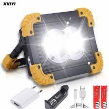 100W Đèn Pin LED Xách Tay COB Làm Đèn Pha Đèn Pha Tìm Kiếm USB Chống Nước  Điện Sạc Ngân Hàng Chiếu Sáng Ngoài Trời Portable Spotlights