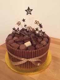 Chocolate Cigarello 50th Birthday Cake Sweets 60th