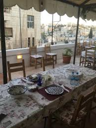dinner table background. Beit Sitti: The Dinner Table, W/ Views In Background, Siti Table Background A