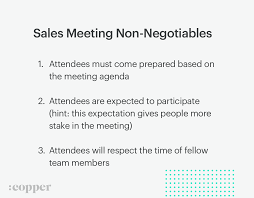 Sales Meeting Agenda How To Run A Sales Meeting That Doesnt Suck Copper