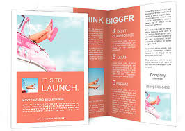 Fun Brochure Templates Summer Fun Vintage Car Legs Showing From Pink Vintage Retro Car Freedom Travel And Vacation Road Brochure Template