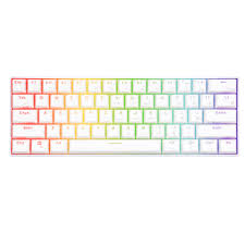 RK <b>RK61 Mechanical Gaming</b> White <b>Keyboard</b> Wireless Bluetooth ...