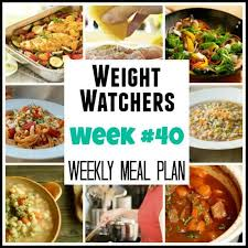 weight watchers weekly meal plan with