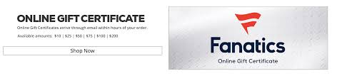 order gift certificates available in amounts of 10 25 50