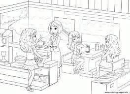Restaurant Coloring Page Lego Friends Restaurants Food Coffee Coloring Pages Printable