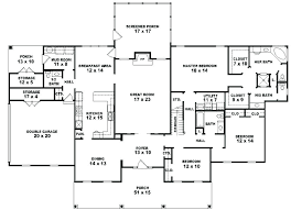 one story 5 bedroom house plans 1 floor house plan one story 5 bedroom house