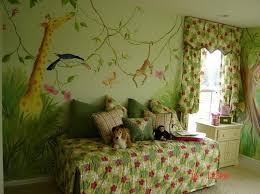 Lovely Jungle Themed Bedroom