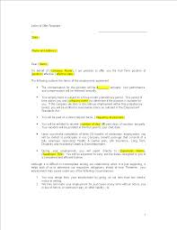 Formal Job Offer Template Sample Job Offer Letter Templates At Allbusinesstemplates
