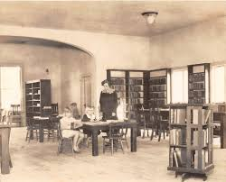 undated photo of the redondo beach public library inside the city s first city hall building